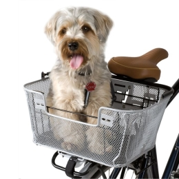סל קדמי נישלף +ידית לבן QR DUAL -FUNCTION PREMIUM PET BASKET